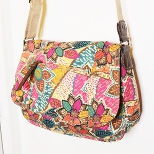 Relic Pink Blue Floral Boho Cross Body Handbag